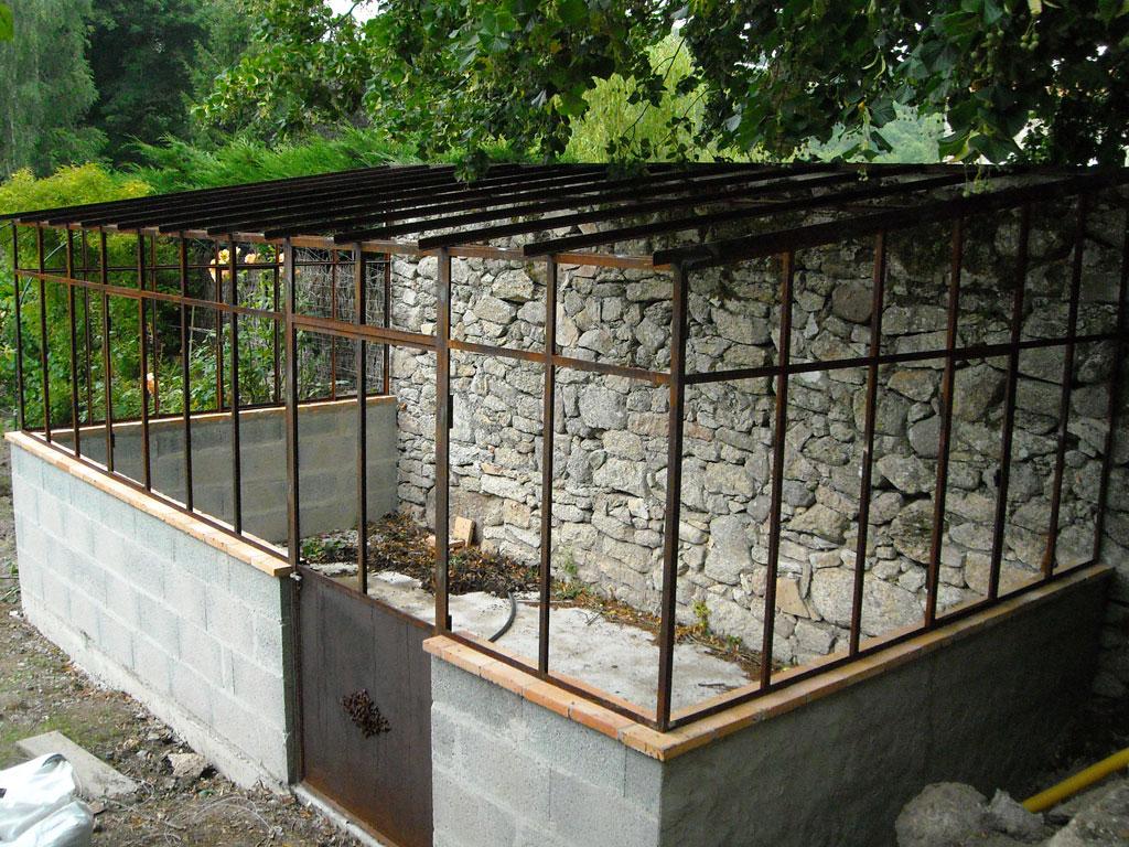 Véranda De Jardin Extérieur extérieurs fer forgé - ferronnerie d'art gâtinaise